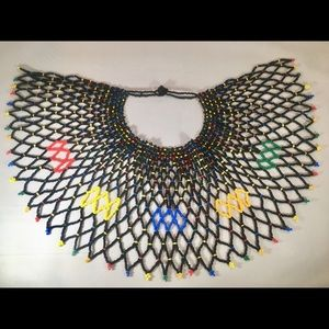 Jewelry - African  bead necklace royal tribal craft